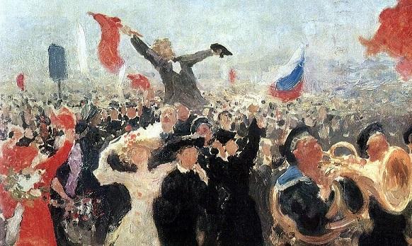 A revolutionary movement: picture represented the Russian Revolution