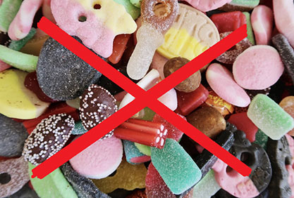 eat less candy and feel much better