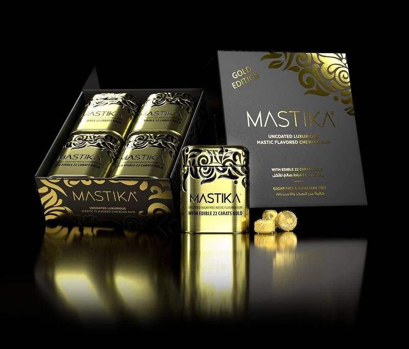 Mastika Gum Gold is not the most expensive chewing gum anymore.
