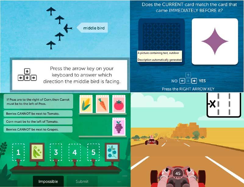 En av två studier av JAWPEER använde olika spel i Lumosity för att undersöka effekten av att tugga